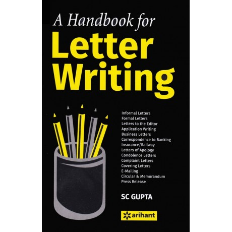 Arihant Publication (English) [A Handbook for Letter Writing] Author - SC Gupta