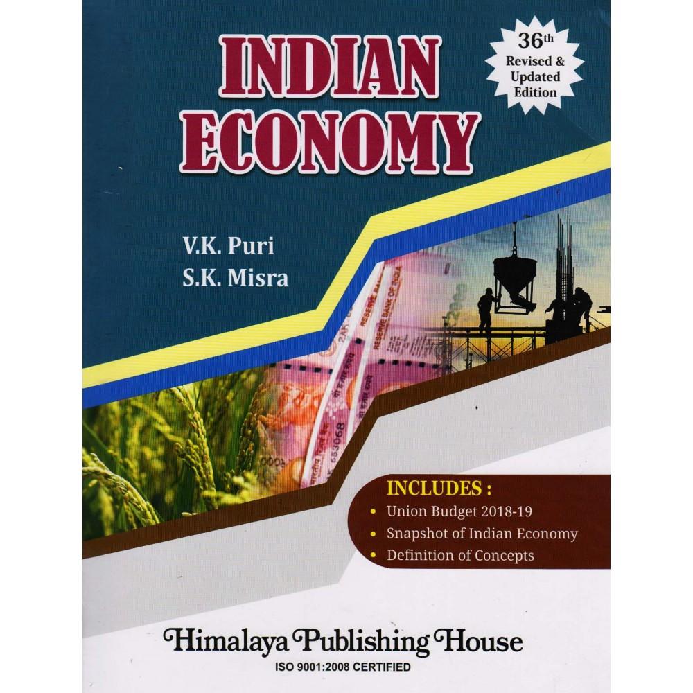 Himalaya Publishing House [Indian Economy (English) 36th Edition Paperback] by V. K. Puri & S. K. Mishra