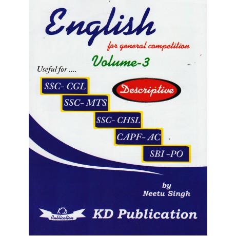 KD Publication [Descriptive English Vol-3] by Neetu Singh
